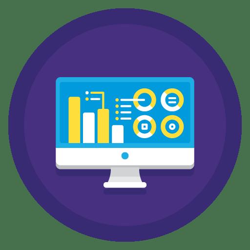 social media marketing analytics icon